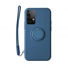 Akcija! Samsung Galaxy a52 / a52 5g dėklas su magnetu Pastel Ring Tamsiai Mėlynas