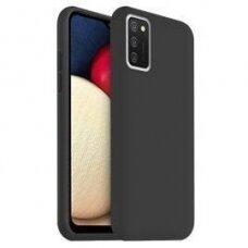 Samsung Galaxy A03s dėklas TPU rubber juodas