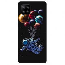 """Samsung Galaxy A42 TPU dėklas unikaliu dizainu 1.0 mm """"u-case Airskin Cosmo design''"""