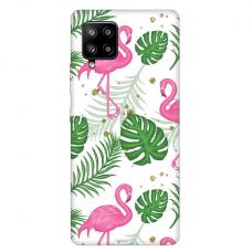 "Samsung Galaxy A42 TPU dėklas unikaliu dizainu 1.0 mm ""u-case Airskin Flamingos design"""