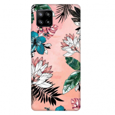 """Samsung Galaxy A42 TPU dėklas unikaliu dizainu 1.0 mm """"u-case Airskin Flowers 1 design"""""""