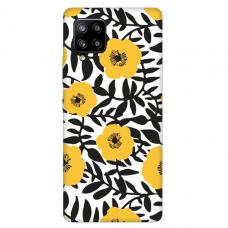 """Samsung Galaxy A42 TPU dėklas unikaliu dizainu 1.0 mm """"u-case Airskin Flowers 2 design"""""""