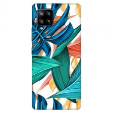 """Samsung Galaxy A42 TPU dėklas unikaliu dizainu 1.0 mm """"u-case Airskin Leaves 1 design"""""""