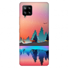 """Samsung Galaxy A42 TPU dėklas unikaliu dizainu 1.0 mm """"u-case Airskin Nature 5 design"""""""
