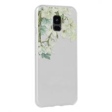 Samsung Galaxy A6 2018 dėklas Flower Jasmine silkoninis permatomas