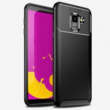 """Samsung Galaxy A6 2018 dėklas Ipaky """"New Carbon"""" TPU Juodas"""