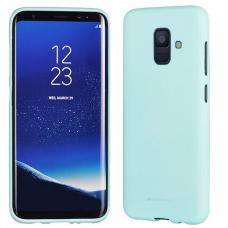 Samsung Galaxy a6 2018 dėklas MERCURY JELLY SOFT FEELING silikonas matinis žydras