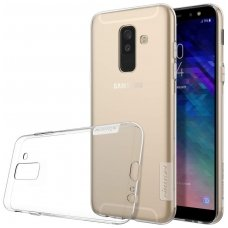 Samsung galaxy A6 Plus 2018 dėklas Nillkin Nature permatomas 0,6 mm TPU
