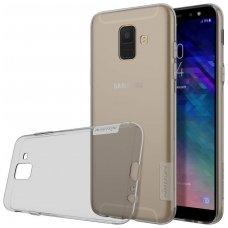Samsung galaxy A6 2018 dėklas Nillkin Nature permatomas pilkas 0,6 mm TPU