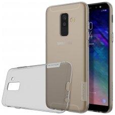 Samsung galaxy A6 Plus 2018 dėklas Nillkin Nature permatomas pilkas 0,6 mm TPU