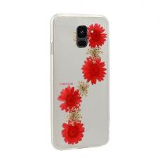 Samsung Galaxy a6 2018 dėklas vennus real flower 3 silikonas
