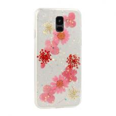 Samsung Galaxy a6 2018 dėklas vennus real flower 4 silikonas