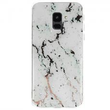 Samsung galaxy A6 2018 dėklas Vennus Stone TPU plastikas baltas