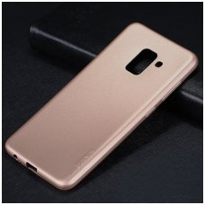 Samsung Galaxy A6 2018 dėklas x-level guardian silkonas auksinis