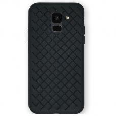 Samsung Galaxy A6 2018 N TOPS KNIT Silikonis dėklas juodas