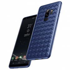 Samsung Galaxy A6 2018 N TOPS KNIT Silikonis dėklas mėlynas