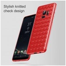 Samsung Galaxy A6 2018 N TOPS KNIT Silikonis dėklas raudonas