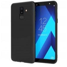 Samsung Galaxy A6 Plus 2018 DĖKLAS MATT SILIKONIS JUODAS