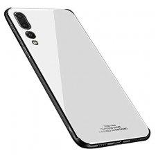 Samsung Galaxy A7 2018 dėklas GLASS CASE BALTAS