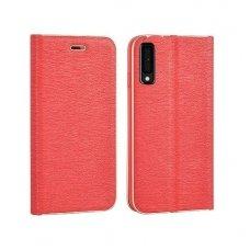 Samsung galaxy a7 2018 atverčiamas dėklas Vennus Book eco oda raudonas
