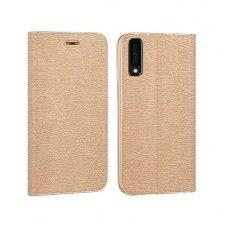 Samsung galaxy a7 2018 atverčiamas dėklas Vennus Book eco oda smėlio spalvos