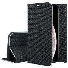 Iphone xs max atverčiamas dėklas Vennus Carbon eco oda Juodas