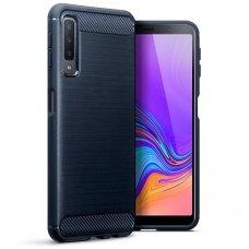Samsung galaxy A7 2018 dėklas Carbon tech silkoninis mėlynas