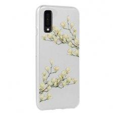"""Samsung galaxy a7 2018 dėklas """"flowers magnolia"""" silikonas"""