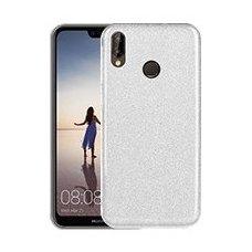 Huawei P20 lite dėklas Glitter TPU sidabrinis