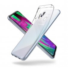 Akcija! Samsung galaxy a40 DĖKLAS HIGH CLEAR 2,0 MM SILIKONAS SKAIDRUS