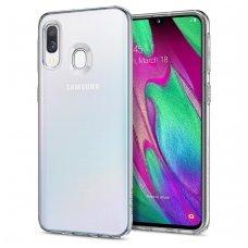 Samsung galaxy a40 DĖKLAS HIGH CLEAR 1,0 MM SILIKONAS SKAIDRUS