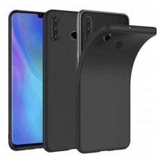 """Huawei p30 lite dėklas """"Liquid silicon""""  silikonas juodas"""