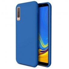 "Samsung Galaxy a7 2018 dėklas ""Liquid silicon""  silikonas mėlynas"