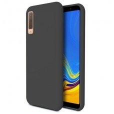 """Samsung Galaxy a7 2018 dėklas """"Liquid silicon""""  silikonas juodas"""