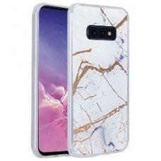 Samsung galaxy s10e dėklas Marmur silikonas baltas
