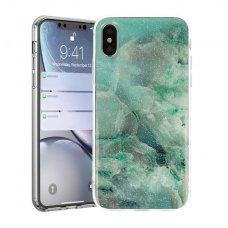 Samsung galaxy A7 2018 dėklas Vennus Stone TPU plastikas žalias