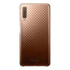 """akcija!Samsung Galaxy A7 2018 originalus dėklas """"Gradation Cover"""" kieto plastiko rudas"""