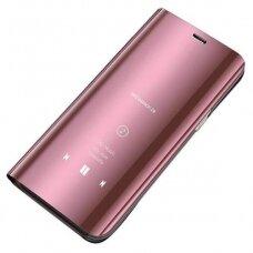 Akcija! Xiaomi Mi 11 ATVERČIAMAS DĖKLAS CLEAR VIEW VEIDRODINIU-PERMATOMU DANGTELIU rožinis