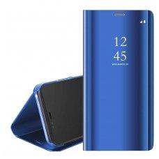 Samsung Galaxy a10 atverčiamas dėklas Clear View veidrodiniu-permatomu dangteliu mėlynas