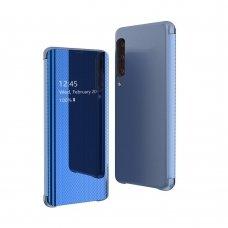 Samsung galaxy a70 atverčiamas dėklas Flip View veidrodiniu-permatomu dangteliu mėlynas