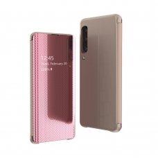 Samsung galaxy a70 atverčiamas dėklas Flip View veidrodiniu-permatomu dangteliu rožinis