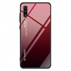 Akcija ! Samsung galaxy a70 dėklas Gradient glass raudonas