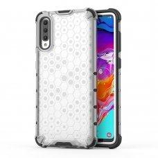 Samsung galaxy a70 dėklas Honeycomb plastikas skaidrus