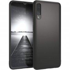 Samsung galaxy A70 dėklas Liquid Silicone juodas