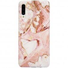 Samsung galaxy A70 dėklas Marble TPU rožinis