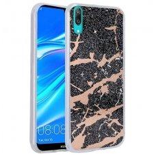 huawei y7 2019 / y7 prime 2019 dėklas Marmur silikonas juodas