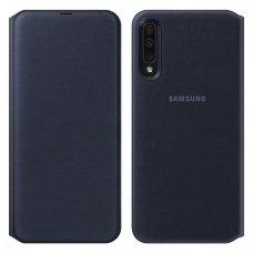 """Samsung Galaxy A50 originalus išmanus atverčiamas dėklas """"Wallet Cover"""" juodas"""