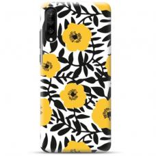 """Samsung Galaxy A70 TPU dėklas unikaliu dizainu 1.0 mm """"u-case Airskin Flowers 2 design"""""""