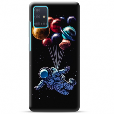 """Samsung Galaxy A71 TPU dėklas unikaliu dizainu 1.0 mm """"u-case Airskin Cosmo design"""""""