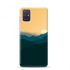 "Samsung Galaxy A71 TPU dėklas unikaliu dizainu 1.0 mm ""u-case Airskin Mountains 2 design"""